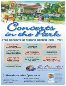 Concerts in the Park Schedule sm